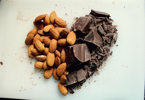 Coeur amande et chocolat