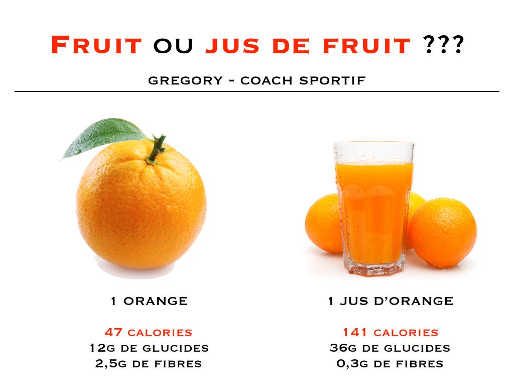 Perte de poids fruit ou jus